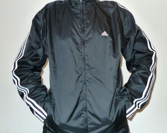 Vintage Adidas Warm Up / Zip Up Light Windbreaker Jacket L