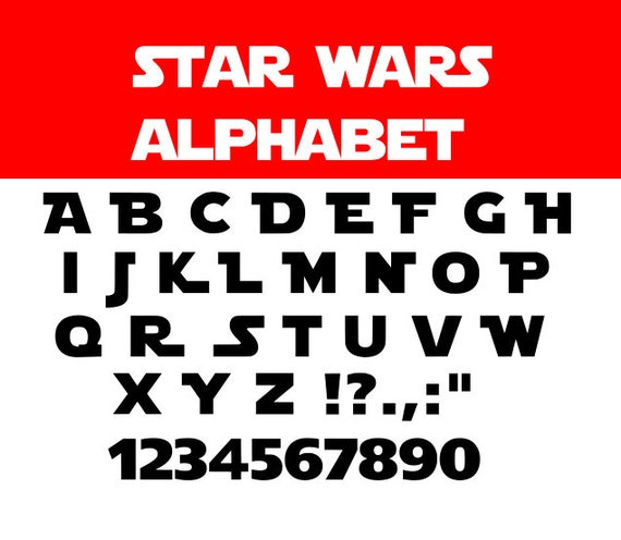 May The Fourth Be With You Lettering: Star Wars Font Svg Star Wars Svg Star Wars Alphabet Svg