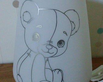 Personalized Teddy bear lamp