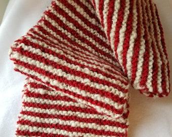 Scarf Hand Knit Hand Spun
