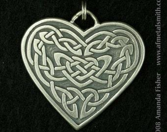 Knotwork Heart Pendant- a Celtic design
