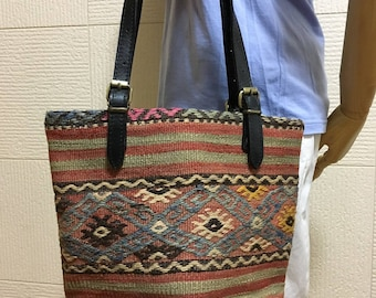 30% OFF FREE Shipping, 2way kilim bag, boho chic bag, Tote bag, Shoulder bag, Handbag, tote bag 2