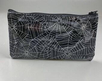 Spiderweb Zippered Vinyl Pouch