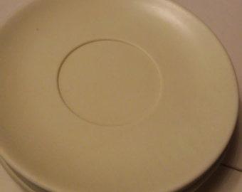 Lot of 6 Vintage Buttercream Yellow Hemcoware Melamine/Melmas Saucers