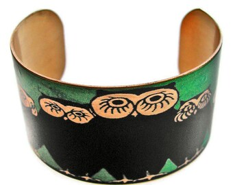 Owl Family cuff bracelet brass   Free Shipping to USA Gifts for her