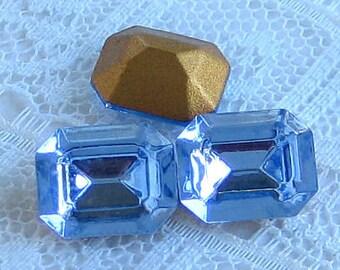10x8 Swarovski Light Sapphire Blue Octagon Crystal Rhinestones Quantity 4