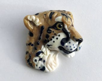 NEW! Cheetah Lampwork Glass Bead - Endangered Collection - Big Cats