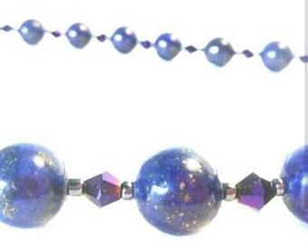 Lapis lazuli necklace, necklace, lapis necklace