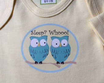 Sleep? Whooo! Bodysuit/Kids and Baby/Baby Clothes/ Baby Bodysuit/Baby boys' clothes/Baby Girls' clothes/Baby Shower Gift/New Baby Outfit