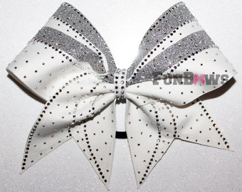 Gorgeous Rhinestone Allstar Cheerleading Hairbow - Tons of Bling !