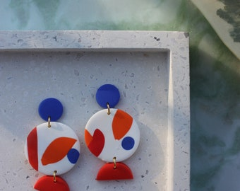 Abstract Earrings / Geometric Earrings / Statement Earrings / Dangle Earrings / Bold Earrings / Festival Earrings