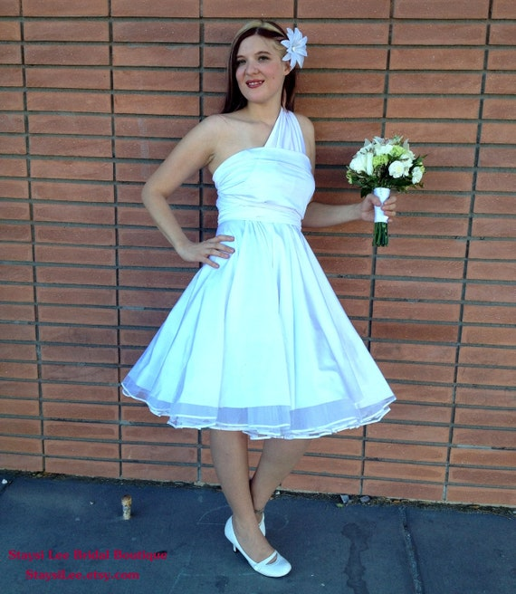 1950s Rockabilly Wedding Dress with Petticoat ...