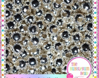 6mm SILVER SPACER BEADS, 1.2 oz~115,  Gumball Bead Supplies, Bead Findings, Silver Beads, Metal Silver Iron Spacers, The Bubblegum Bead Co.