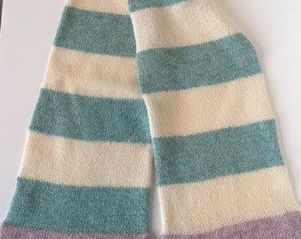Toddler/Child Scottish Lambswool Striped Knitted Scarf