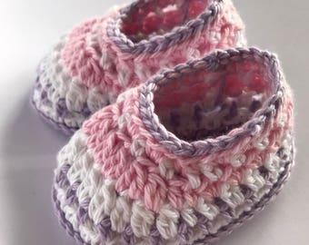 Crochet booties, baby booties, baby girl shoes, newborn booties, Galilee booties, photo prop - READY TO SHIP