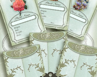 Seed Packets/ Digital Collage Sheet / Instant Download/flowers/ printables
