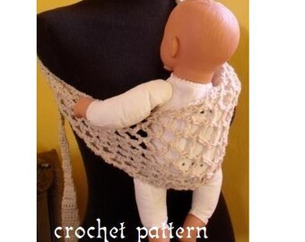 crochet pattern digital download baby to toddler sling