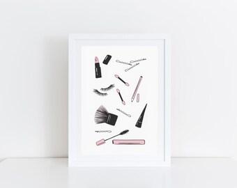 girly art print etsy