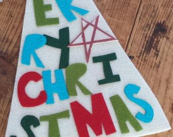 Handmade Merry Christmas Tree Hanger