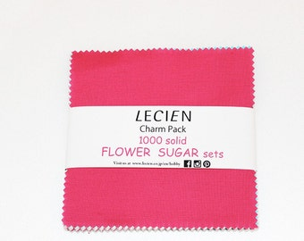 Flower Sugar 1000 solids charm pack 5 inch squares for Lecien Fabric