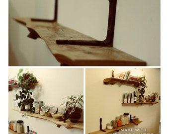 Hemlock shelves