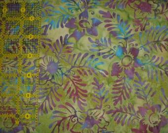 Batik Fabric Hawaiian Print  by the half yard FREE SHIPPING