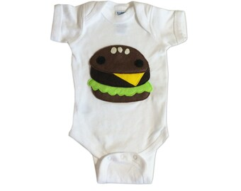 Hungry Kids - Yummy Hamburger Infant Bodysuit