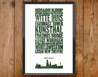 Rotterdam stad Print