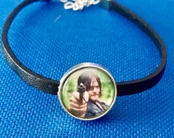 The Walking Dead Daryl Dixon Custom Size Leather Bracelet