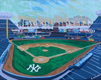 Old Yankee Stadium Painting (Print)