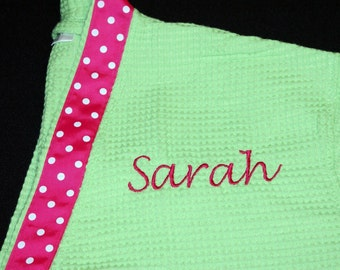 Spa Robe with Ribbon choice of Colors and Personalization