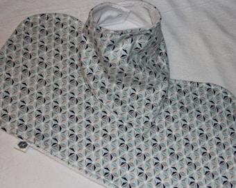Baby Bandit Bib and Burp Cloth,  geometric, baby shower, gift