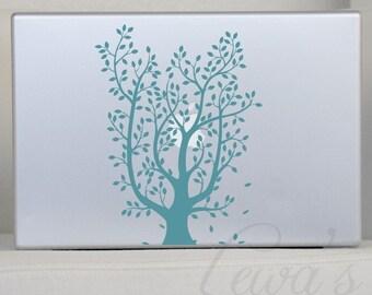 Leafy Tree Vinyl Laptop Decal, Leafy Tree Vinyl Car Decal
