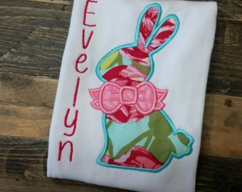 Girls Easter Bunny Shirt - Girls Easter Outfit - Girls Bunny Shirt - Bunny Easter Shirt - Custom Bunny Shirt