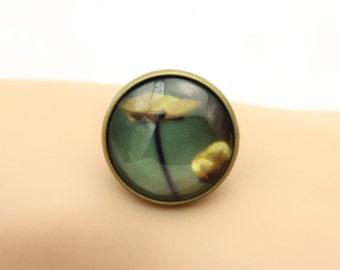 Flower ring, yellow flowers ring, (2020B)