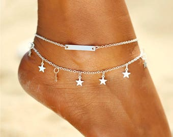 Gold or Silver Ankle Bracelet Fully Adjustable With A 2 Inch Extender Chain