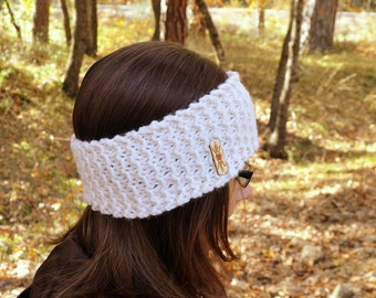 Knit Ear Warmer Headband Handmade Chunky Winter Headband Waffle Stitch More Custom Color Options