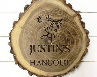 Personalized Wood Kids Plaque with Child's Name