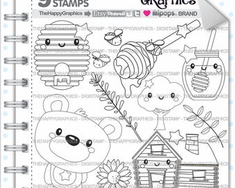 Bear Stamp, 80%OFF, Commercial Use, Digi Stamp, Digital Image, Bear Digistamp, Bear Coloring Page, Bear Graphic, Animal, Teddy