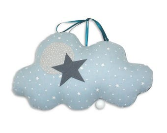 Musical Mobile Cloud Sky Jules - Oil - music box - a star in my cabin
