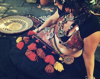 Temptress Tribal Tassel Belt