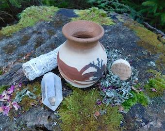 Dreamtime Pottery Jar w/ Cork Lid