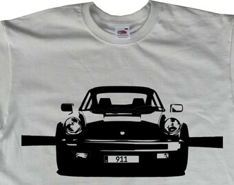 911 964 Carrera Turbo Front T Shirt Porsche Inspired BC85 Various Colours