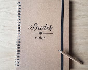 Bride Notebook, Wedding Notebook, Bride To Be Notebook, A5 Notebook, Bride Journal, Wedding Journal, Engraved Notebook