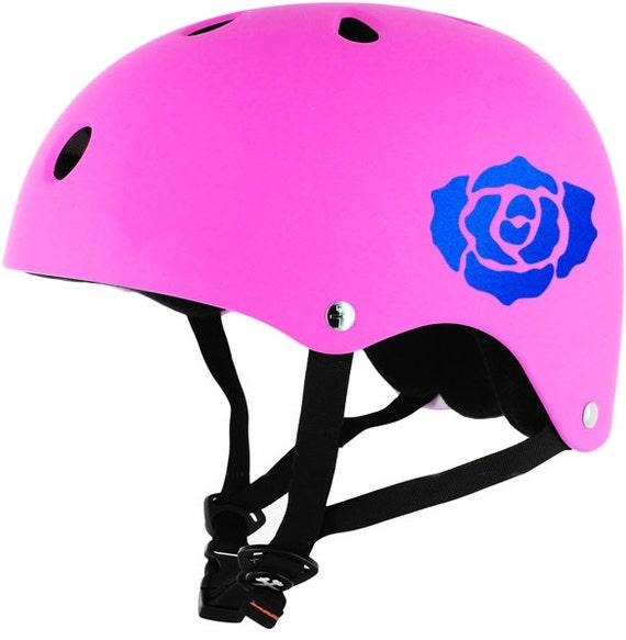 Rose Reflective Decal Rose Helmet Sticker Rose Motorcycle - Pink motorcycle helmet decals