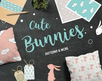 SALE! Cute Bunies Patterns & More- Instant Digital Download