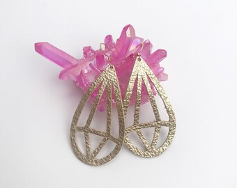 Gold Diamond Lightweight Diffuser Earrings