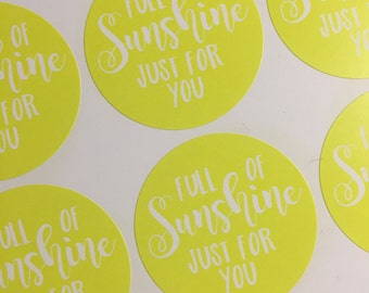 Full Of Sunshine Just For You Happy Mail Stickers 37mm