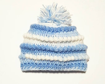 Baby hat . Crocheted baby beanie. CLEARANCE