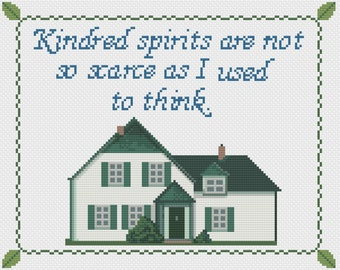 Kindred Spirits - Anne of Green Gables - Anne Shirley - LM Montgomery - PDF Cross Stitch Pattern